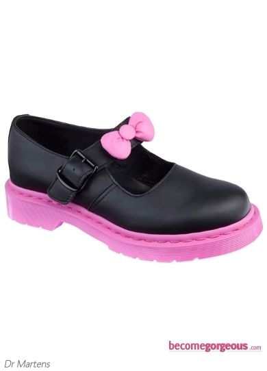 Dr Martens Hello Kitty Pink and Black Shoes