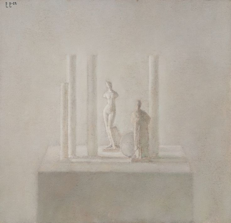 """Владимир Вейсберг """"Четыре колонны с Венерой и танагрой"""" 1982"""