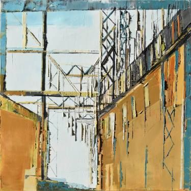 """Industrial city"" diptych 1"