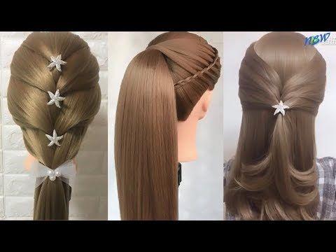 Peinados Faciles y Rapidos para Cabello Largo - Semirecogidos con trenzas - YouTube