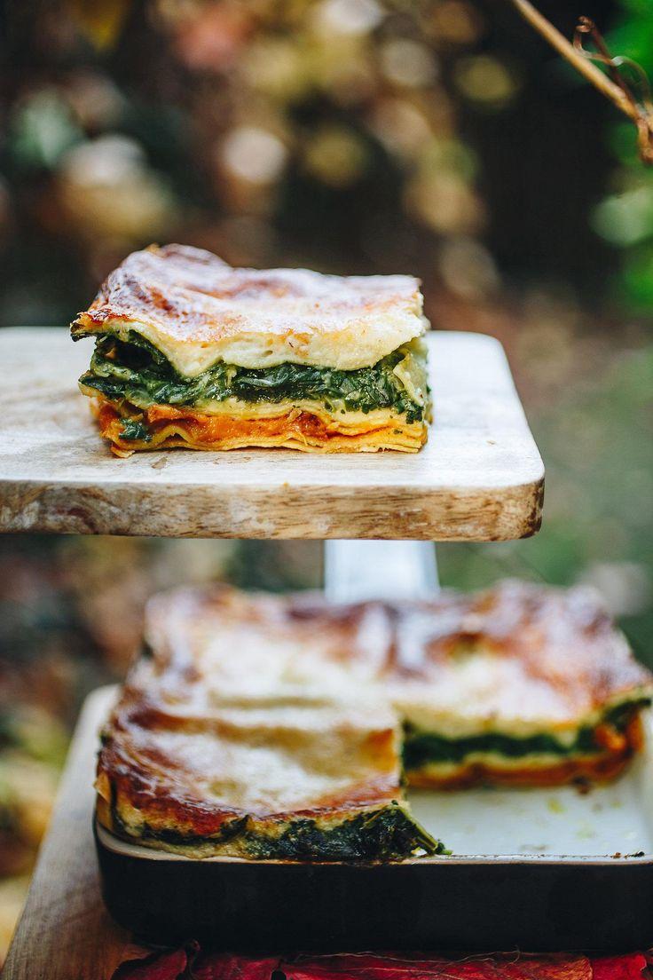Sütőtökös, spenótos lasagne » Lila Füge