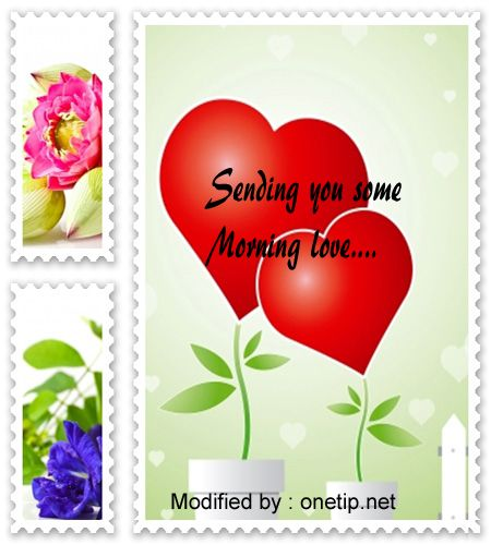 Love you good morning sms messages