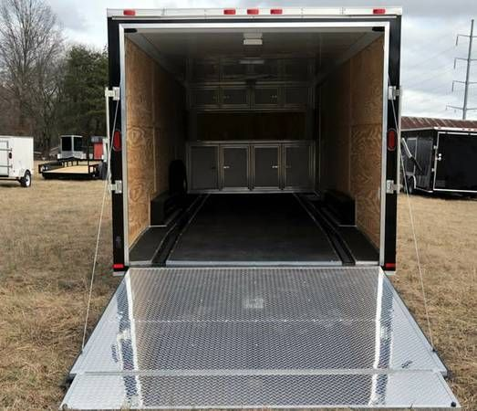 2014 8 5x24 Car Hauler Enclosed Cargo Trailer Loaded