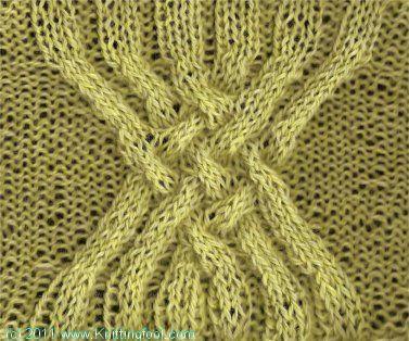 Six Band Knot - Knittingfool Stitch Detail