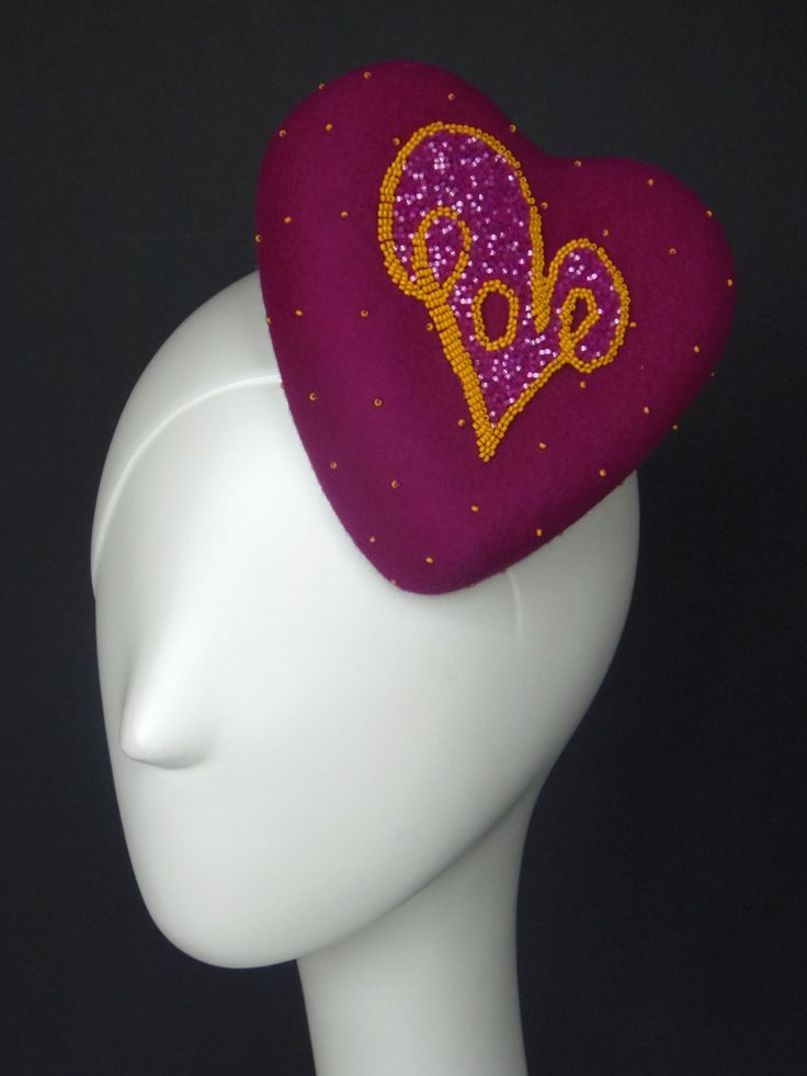 Little Love Hat. Made from felt with hand embroidered Love logo.