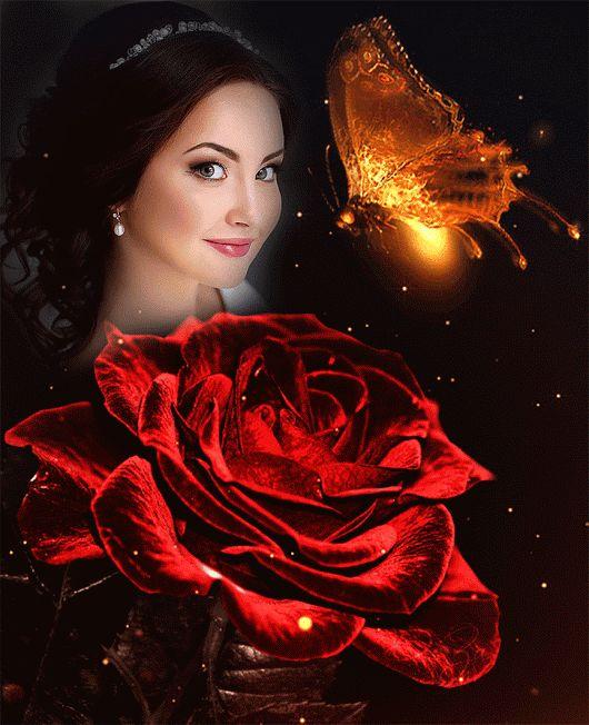 Плакаты, анимированные картинки розы