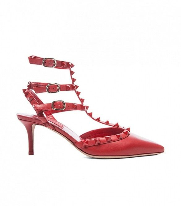 Valentino Rouge Rockstud Leather Slingbacks ($1095)