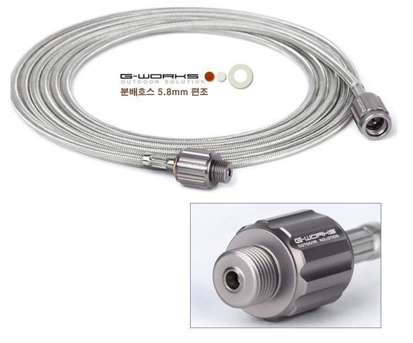 G-WORKS Gas Distribution Hose -Stainless Steel Wire Braid(Screw type for Butane) #GWORKS