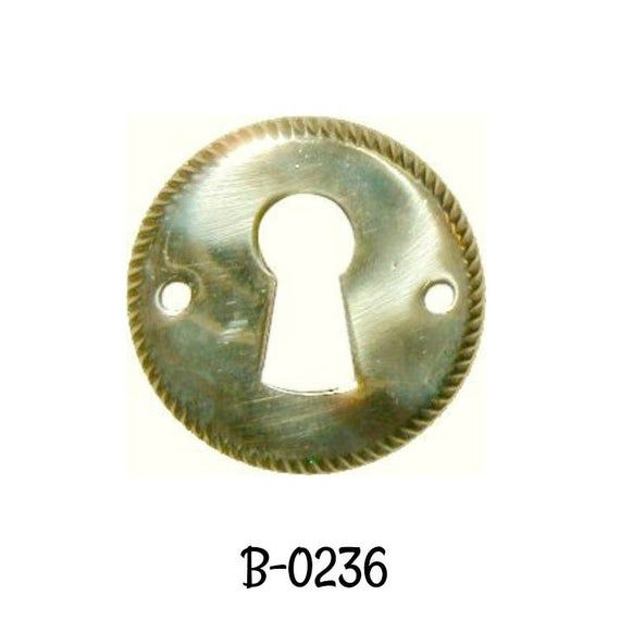 LOT OF 8 EACH   STAMPED BRASS KEY HOLE COVER  B0239