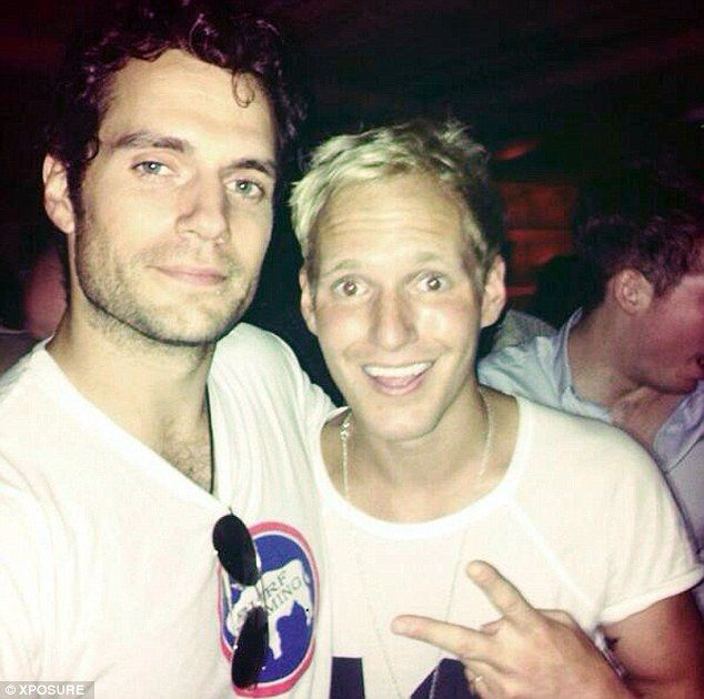 Excited: Made In Chelsea's Jamie Laing tweeted that he had met Henry Cavill when out on Thursday evening