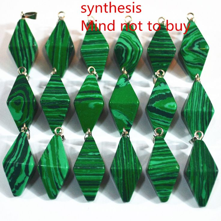 New Fashion Top Quality Natural Malachite Stone Double Pyramid Pendants Conical Pendulum For Jewelry Making 25PCS Free Shipping #Affiliate
