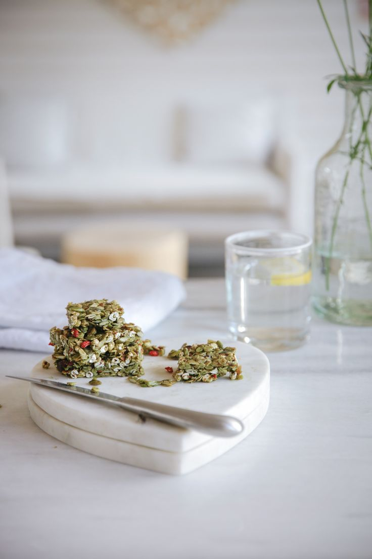 Matcha, coconut and goji berry energy bars - find the recipe in our free eBook for autumn.