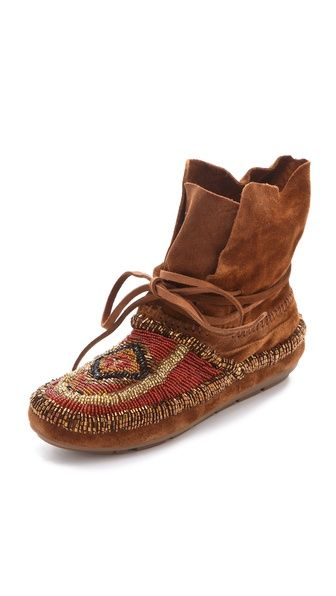 I know these are new-but I think they did a good job.  House of Harlow 1960 Madison Beaded Moccasins