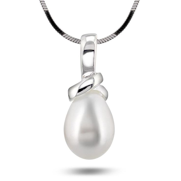 Smykke i sølv med ferskvannsperle - Juvelen gullsmed