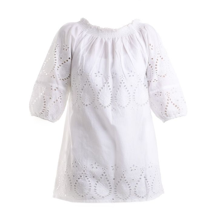 SHORT DRESS IN WHITE COLOR - Skirts-Dresses - Clothes