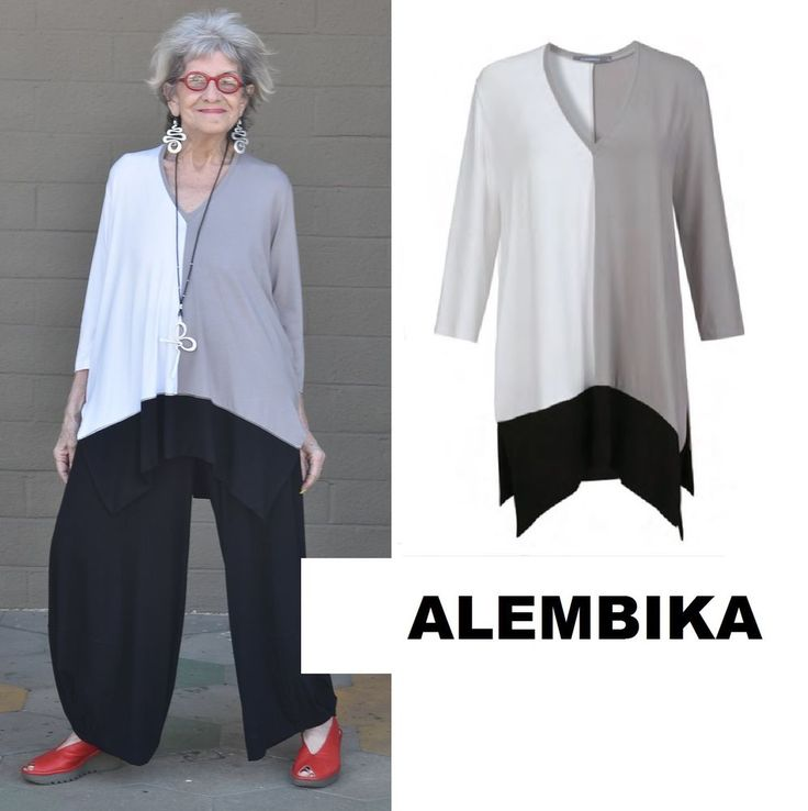 """ALEMBIKA T846 Shelby Tunic. """"ALEMBIKA, 92% Viscose, 8% Elastane,Made in Israel, Hand Wash or Dry Clean."""". Alembika was founded in 2005 by two women, fashion designer Hagar Alembik. large size range, to which Alembika's layered look is especially flattering. 