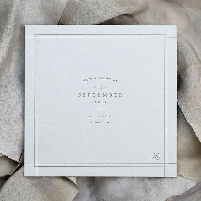 Square invitation + thin cross border