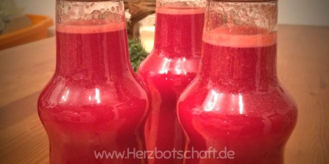 Rezept: Selbstgemachter Weihnachtslimes, Limes, Erdbeerlimes, Himbeerlimes - ♥ Herzbotschaft.de