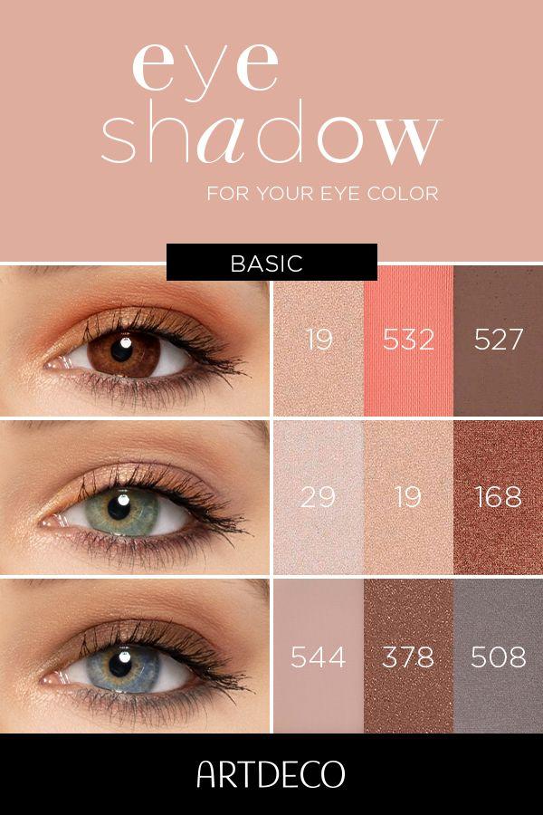 Eyeshadow | Augen farbe, Augenfarbe, Lidschatten für grüne