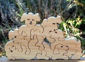 DOG images for woodworking | Toy Wood Puzzle Puppy Dogs Playing review at Kaboodle