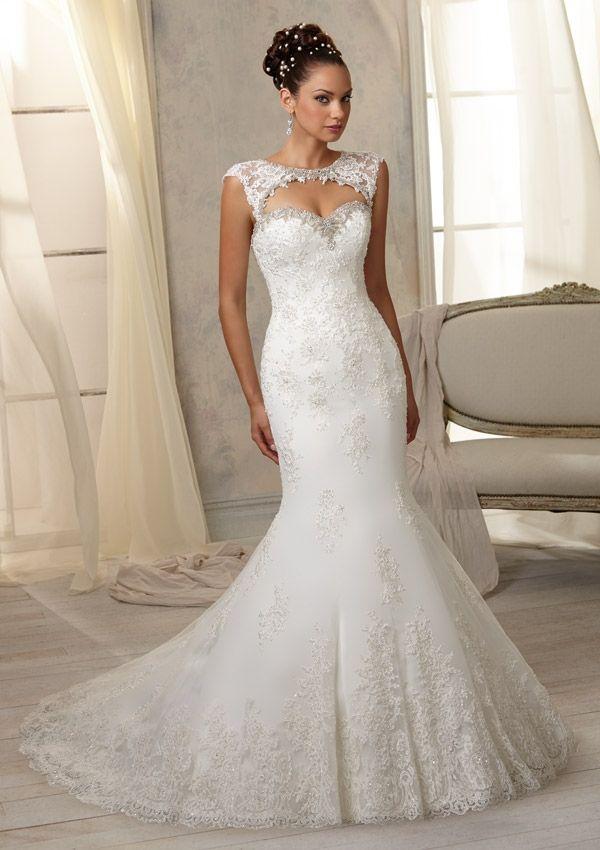 Free Shipping Removable Bolero Dropped Waist Key Hole Back Beading Lace Applique Mermaid Wedding Dress 2014 Vestido De Noiva US $59.60