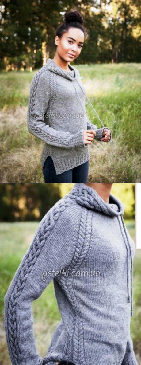 Пуловер реглан со шнуровкой