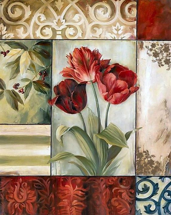 .Red tulips