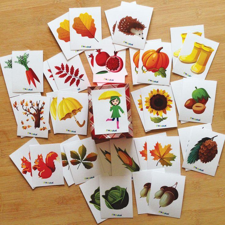 """""""Pia Polya Sonbahar Kartlarının Diğer Eşini Bul"""" 24 ay ve 4 yaş arası çocuklar için uygundur. A3"""