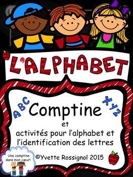 Parfait pour la rentrée! Une comptine que les élèves pourront réciter toute l'année ET plusieurs activités prêtes à imprimer!