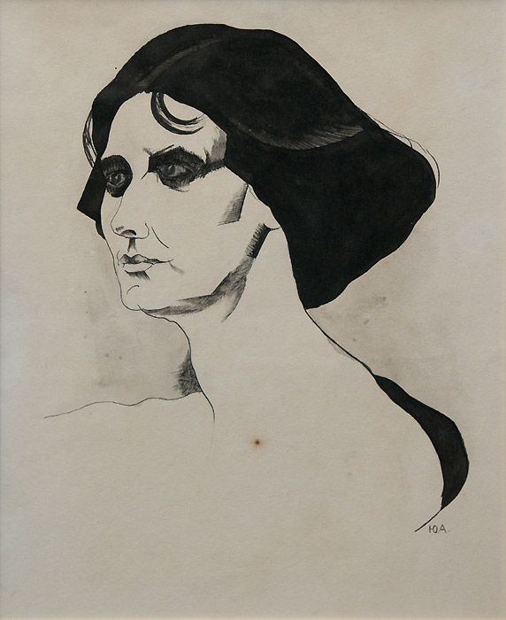 http://obtaz.com/akhmatova-house/2014-06-25/pic/DSC00989a.jpg Юрий Анненков. Портрет Айседоры Дункан. 1920-е г.