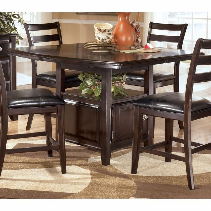 The Ridgley Counter Height Table with Storage by Signature Design by Ashley. Kitchen Table SetsPub ... & 12 best dinning set\u0027s. images on Pinterest | Dining room tables ...