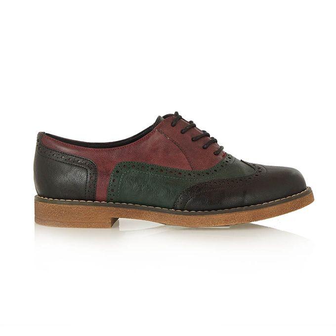 EXE μαύρο-πράσινο παπούτσια τύπου oxford   Tsakiris Mallas
