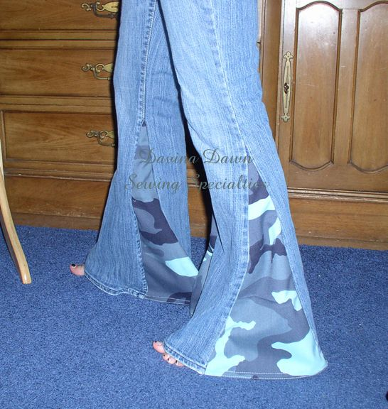 sewing jeans into skirts jeans purchased at salvation army refashioned into bell bottom jeans. Black Bedroom Furniture Sets. Home Design Ideas