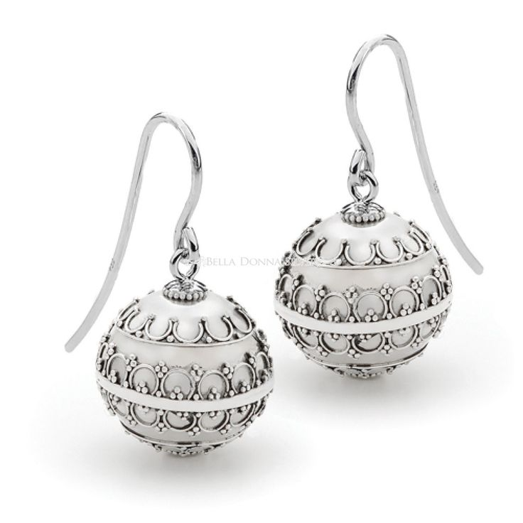 Antique Harmony Ball Earrings by Bella Donna Silver