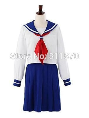Hot Sales! Anime Sailor Moon Sailor Venus Cosplay 2015 Latest Style Costume School Uniform Dress Customized Size Free Shipping  //Price: $ US $62.99 & FREE Shipping Worldwide//       #clothing #fashion #makeup #lips #face #dress #lipstick #style #trend