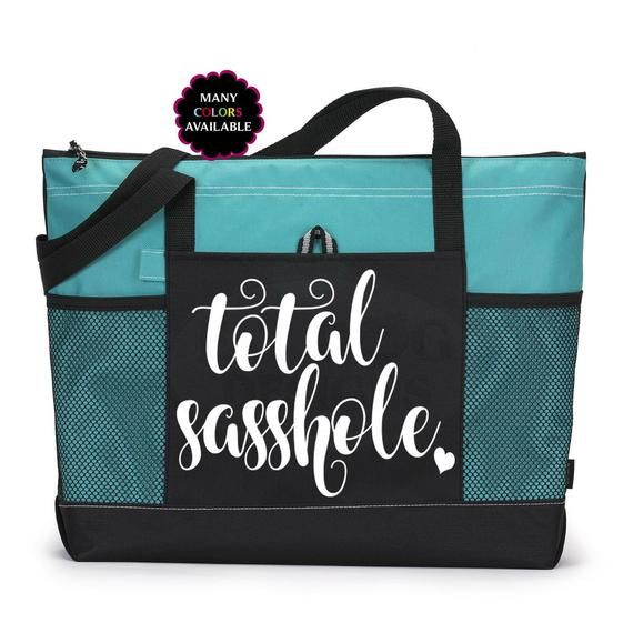 7ee95b1f6e503 Total Sasshole Zippered Tote - Gym Bag, School Bag, Laptop Bag ...