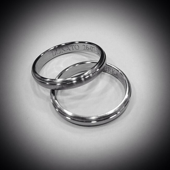 Titanium ring, satin  Anello in titanio satinato