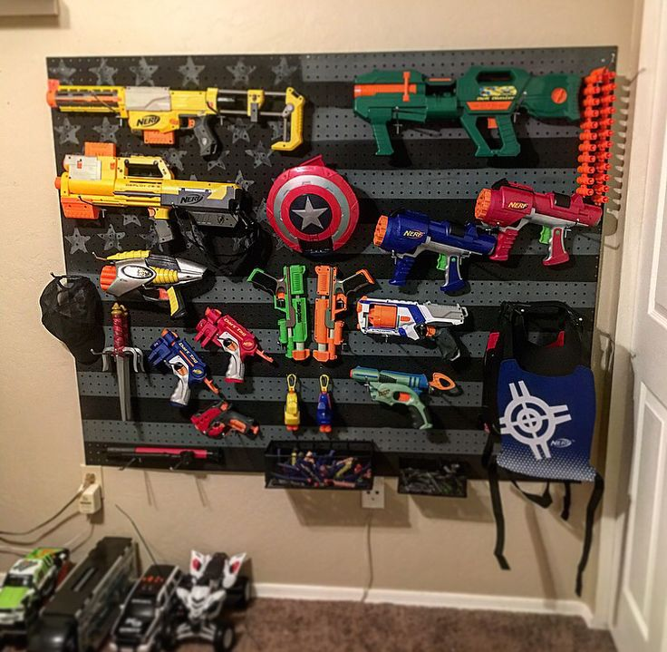 American flag Nerf gun rack | Wood work | Pinterest