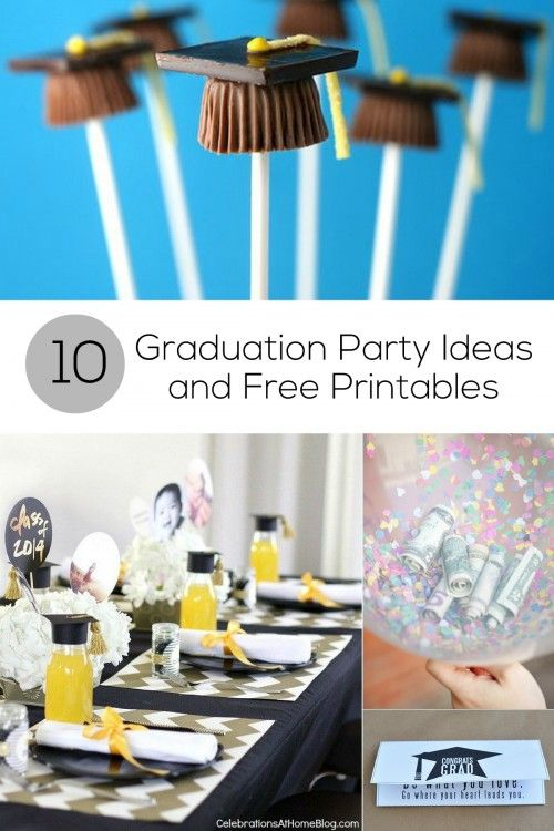High School Christmas Party Ideas Part - 46: 10 Graduation Party Ideas And Free Printables!