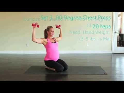 40 Weeks of Fitness: Prenatal Workout Series with Lauren Huber (Full Video) - YouTube
