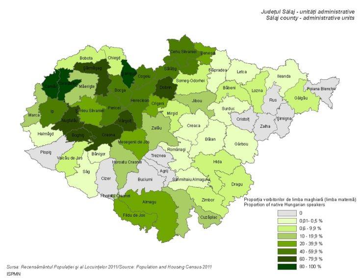 Magyar anyanyelvűek (Szilágy megye 2011)
