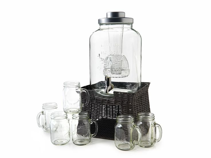 Artland Oasis 10403A 3 Gallon Beverage Dispenser w/ Chiller, Infuser S/6 Glasses and Stand