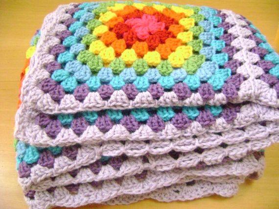 MANTAS TEJIDAS A CROCHET - Crochet - Tejidos de Punto - 35451