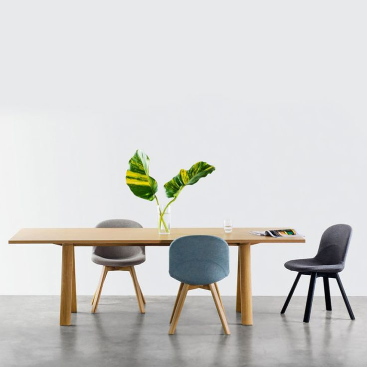 Australian design at its finest. The gohome Plateau Table by Marcel Sigel with his new upholstered Lunar Chairs. Divine :)