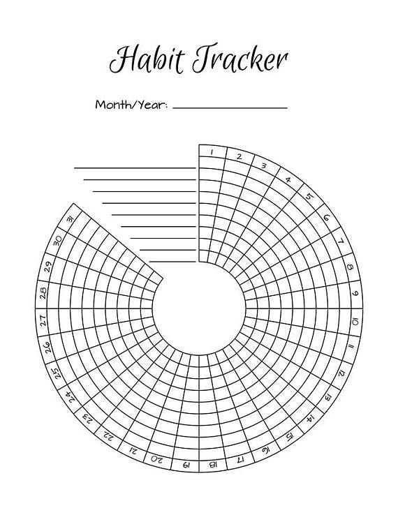 Habit Tracker Template That Can Be Used To Track The Activities That Bullet Journal Habit Tracker Printable Habit Tracker Bullet Journal Planner Bullet Journal
