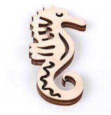 Dřevěné razítko na textil Mořský koník č. 005