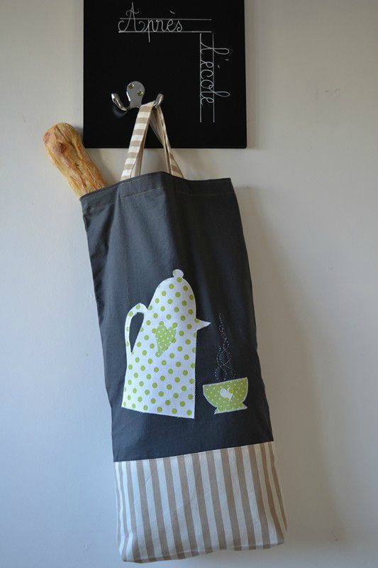 bread bag tutorial and template (French)