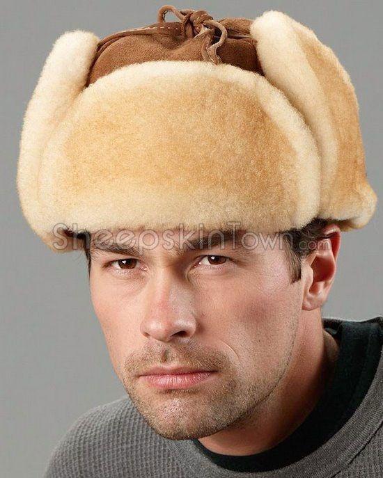 36ad2503e4cb0 Tan Trapper Hat - Alaska Shearling Sheepskin in 2019