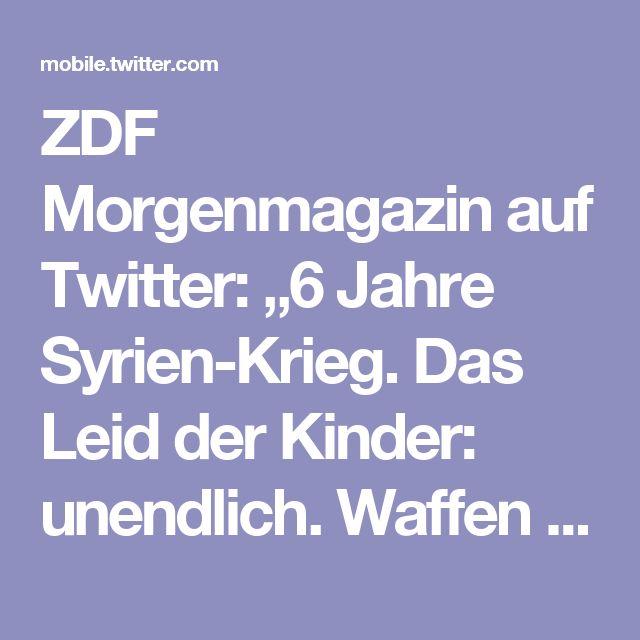 """ZDF Morgenmagazin auf Twitter: """"6 Jahre Syrien-Krieg. Das Leid der Kinder: unendlich. Waffen und Kriegsszenen sind Alltag in der Kindheit geworden. #ZDFmoma #Syrien https://t.co/WYnxT5rBnz"""""""