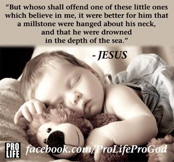 Whoso shall offend...? My teddy bear, Little ones